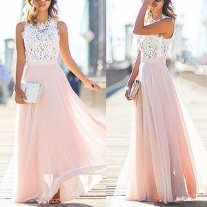 Dresses & Skirts - Pink Beach Summer Boho Maxi Party Dress